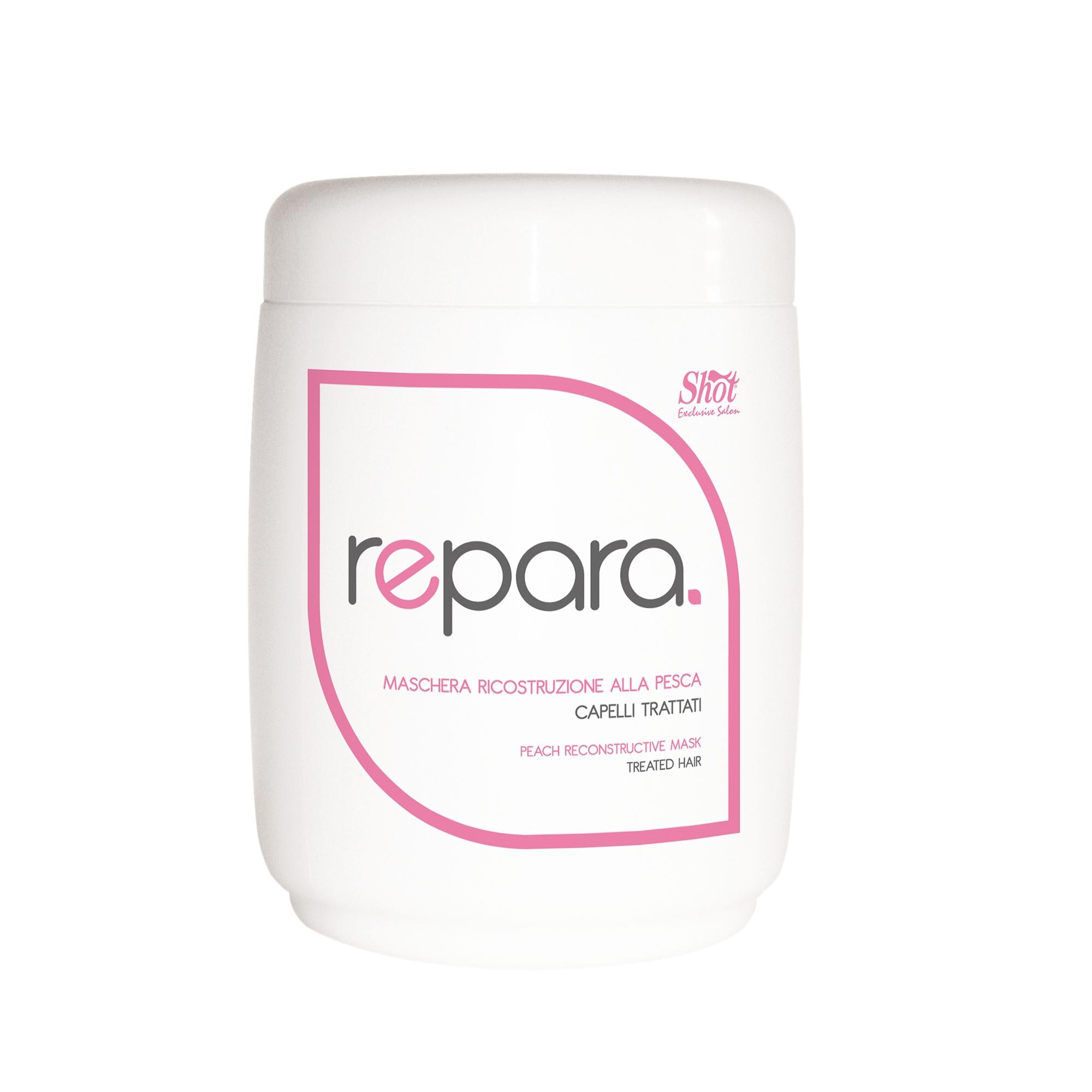 SHOT Маска восстанавливающая с персиком для поврежденных волос / SHOT MAX 1000 млМаски<br>Ее формула богата питательными веществами, которые восстанавливают сильно поврежденные и очень сухие волосы. Активные ингредиенты: итательные вещества, витамины. Способ применения: нанести на чистые, влажные волосы, оставить на 2-3 минуты. Смыть.<br><br>Вид средства для волос: Восстанавливающий