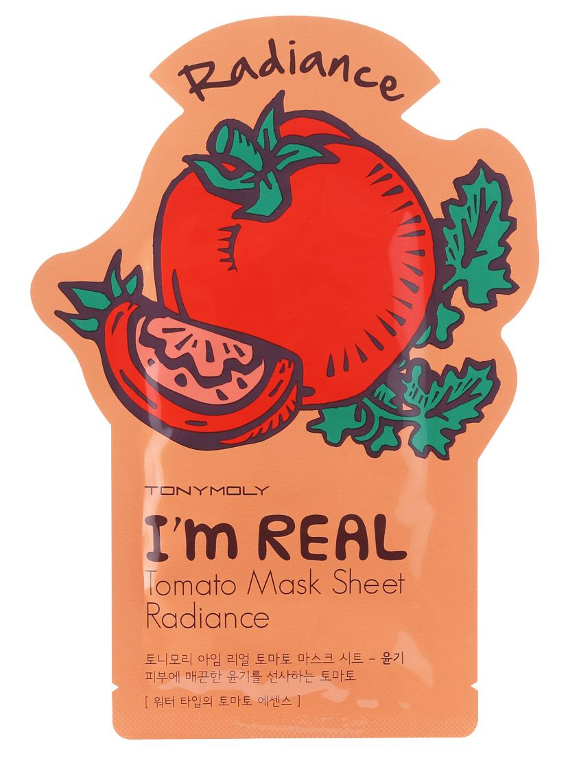 TONYMOLY Маска тканевая с экстрактом томата / I'm Real Tomato Mask Sheet 21 мл