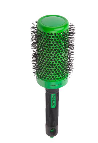 DEWAL PROFESSIONAL Термобрашинг Color, керамическое покрытие, нейлоновая щетина (зеленый) d 52/72 мм - Термобрашинги