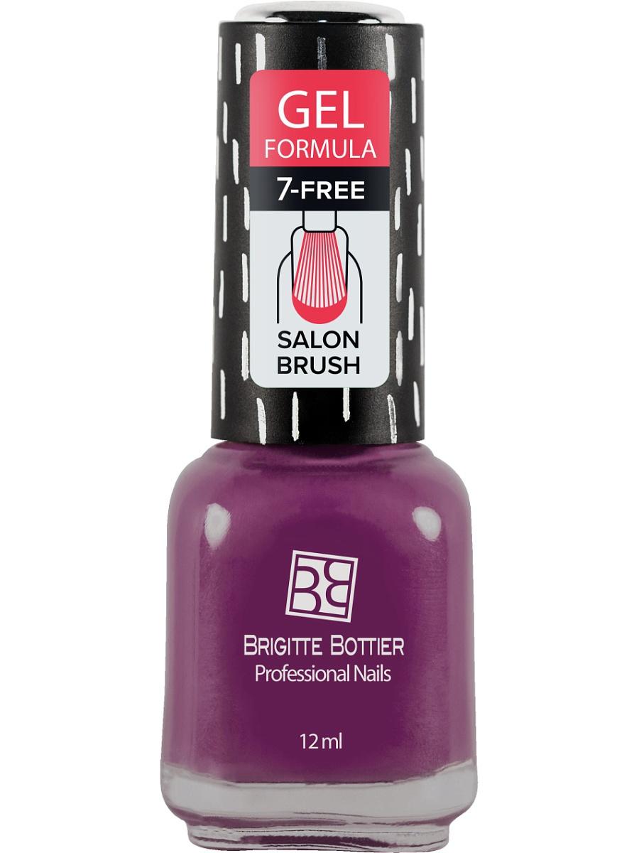 BRIGITTE BOTTIER 75 лак для ногтей гелевый, лилово-розовый / GEL FORMULA 12 мл лаки для ногтей isadora лак для ногтей гелевый gel nail lacquer 247 6 мл