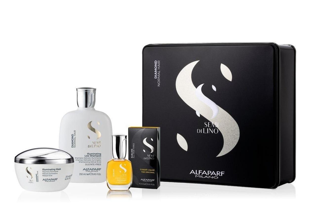 Купить ALFAPARF MILANO Набор подарочный для нормальных волос (шампунь 250 мл, маска 200 мл, масло 15 мл) SDL DIAMOND 2020