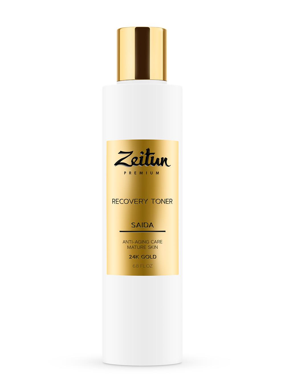 Купить ZEITUN Тоник восстанавливающий для зрелой кожи с 24К золотом / Saida 200 мл