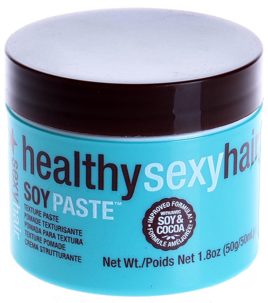 SEXY HAIR Крем текстурирующий помадообразный на сое / HEALTHY 50грКремы<br>Крем от Sexyhair предназначен для удобного и эффективного стайлинга. Средство делает волосы послушными и эластичными, что позволяет менять укладку в течение дня без применения дополнительных продуктов. Благодаря натуральным экстрактам, крем от Сексихеэ восстанавливает поврежденные волосы и делает их блестящими и шелковистыми. После применения крема от Sexyhair укладка становится чрезвычайно легкой процедурой, а ваши волосы обретают эффектный и красивый вид. Активный состав: Пчелиный воск, экстракты сои и ромашки. Способ применения: Нанесите крем от Сексихеэ на сухие волосы и вотрите пальцами.<br><br>Объем: 50<br>Вид средства для волос: Текстурирующая