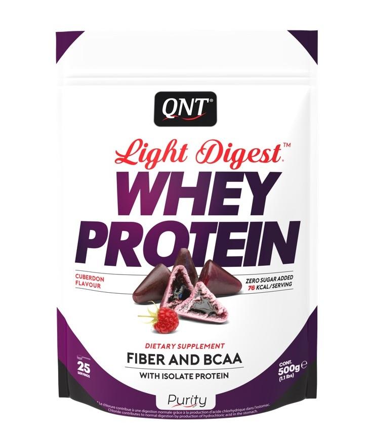 QNT Добавка биологически активная к пище Лайт дайджест вей протеин, кьюбердон / LIGHT DIGEST WHEY PROTEIN Cuberdon 500 г  - Купить