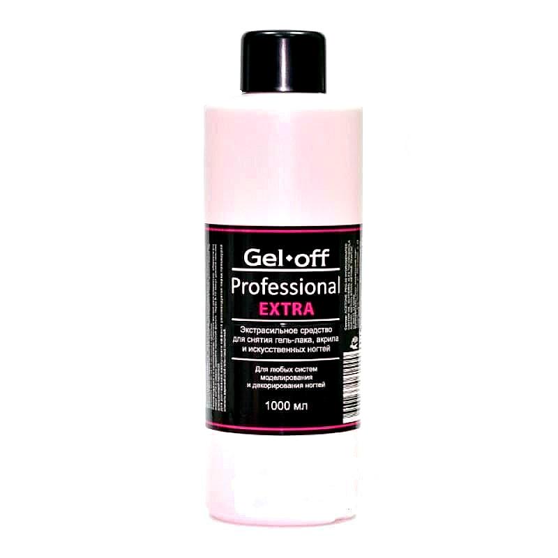 GEL-OFF Средство экстрасильное для снятия гель-лака, акрила и искусственных ногтей / Gel Off Professional Extra 1000 мл -  Снятие лака