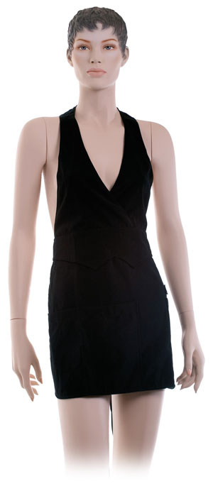 DEWAL PROFESSIONAL Фартук мастера для окрашивания, короткий, полиэстер, черный 56х78 см