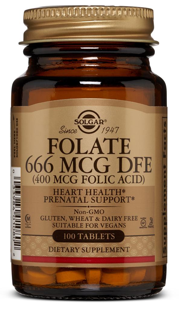 SOLGAR Фолиевая кислота, таблетки 400 мкг № 100
