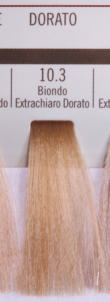 BAREX 10.3 краска для волос / PERMESSE 100млКраски<br>Оттенок: Экстра светлый блондин золотистый. Профессиональная крем-краска Permesse отличается низким содержанием аммиака - от 1 до 1,5%. Обеспечивает блестящий и натуральный косметический цвет, 100% покрытие седых волос, идеальное осветление, стойкость и насыщенность цвета до следующего окрашивания. Комплекс сертифицированных органических пептидов M4, входящих в состав, действует с момента нанесения, увлажняя волосы, придавая им прочность и защиту. Пептиды избирательно оседают в самых поврежденных участках волоса, восстанавливая и защищая их. Масло карите оказывает смягчающее и успокаивающее действие. Комплекс пептидов и масло карите стимулируют проникновение пигментов вглубь структуры волоса, придавая им здоровый вид, блеск и долговечность косметическому цвету. Активные ингредиенты:&amp;nbsp;Сертифицированные органические пептиды М4 - пептиды овса, бразильского ореха, сои и пшеницы, объединенные в полифункциональный комплекс, придающий прочность окрашенным волосам, увлажняющий и защищающий их. Сертифицированное органическое масло карите (масло ши) - богато жирными кислотами, экстрагируется из ореха африканского дерева карите. Оказывает смягчающий и целебный эффект на кожу и волосы, широко применяется в косметической индустрии. Масло карите защищает волосы от неблагоприятного воздействия внешней среды, интенсивно увлажняет кожу и волосы, т.к. обладает высокой степенью абсорбции, не забивает поры. Способ применения:&amp;nbsp;Крем-краска готовится в смеси с Молочком-оксигентом Permesse 10/20/30/40 объемов в соотношении 1:1 (например, 50 мл крем-краски + 50 мл молочка-оксигента). Молочко-оксигент работает в сочетании с крем-краской и гарантирует идеальное проявление краски. Тюбик крем-краски Permesse содержит 100 мл продукта, количество, достаточное для 2 полных нанесений. Всегда надевайте подходящие специальные перчатки перед подготовкой и нанесением краски. Подготавливайте смесь крем-краски и молочка-оксигента Perm