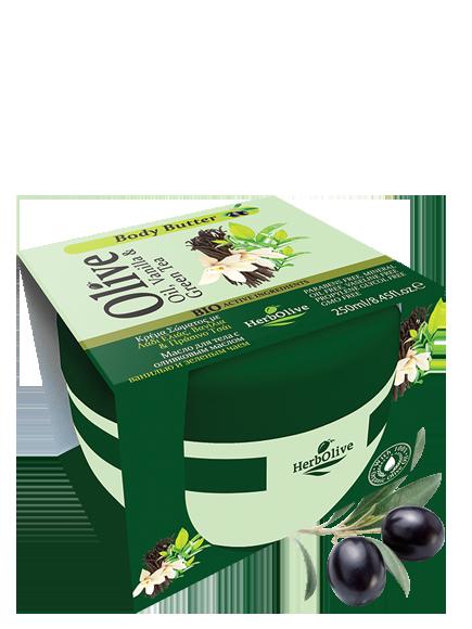 MADIS Масло для тела с ванилью и зеленым чаем / HerbOlive 250мл