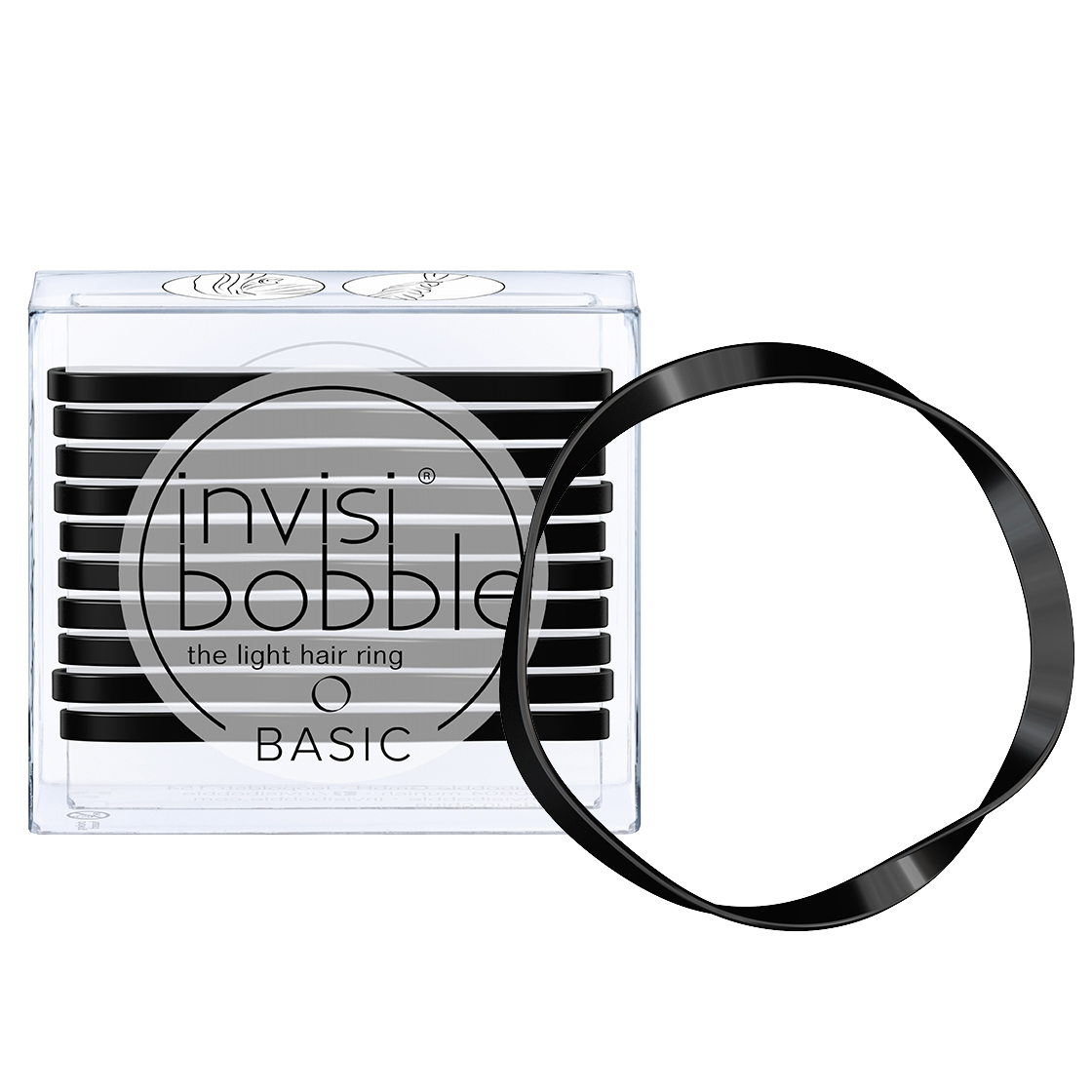 INVISIBOBBLE Резинка для волос / BASIC True Black 10 шт фото