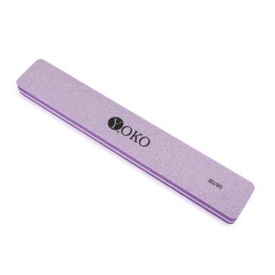 YOKO Пилка-блок фиолетовая 80/80***