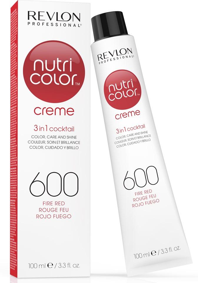 Купить REVLON Professional 600 краска 3 в 1 для волос, огненно-красный / NUTRI COLOR CREME 100 мл