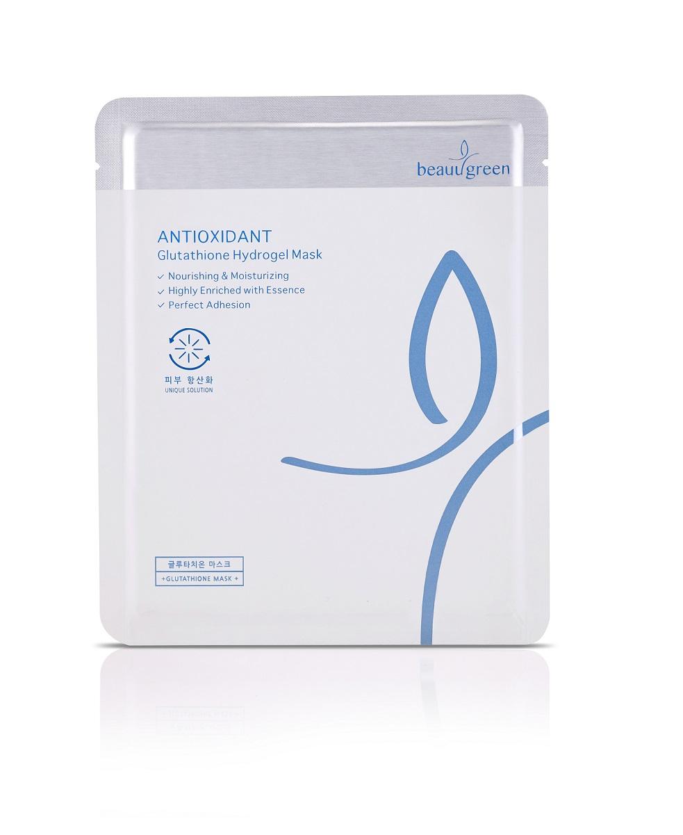 BEAUUGREEN Маска гидрогелевая с антиоксидантным эффектом / Glutathione Hydrogel Mask 1 шт -  Маски