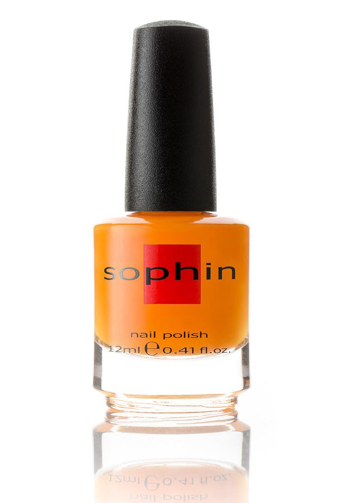 SOPHIN Лак для ногтей, апельсиновый неоновый 12мл