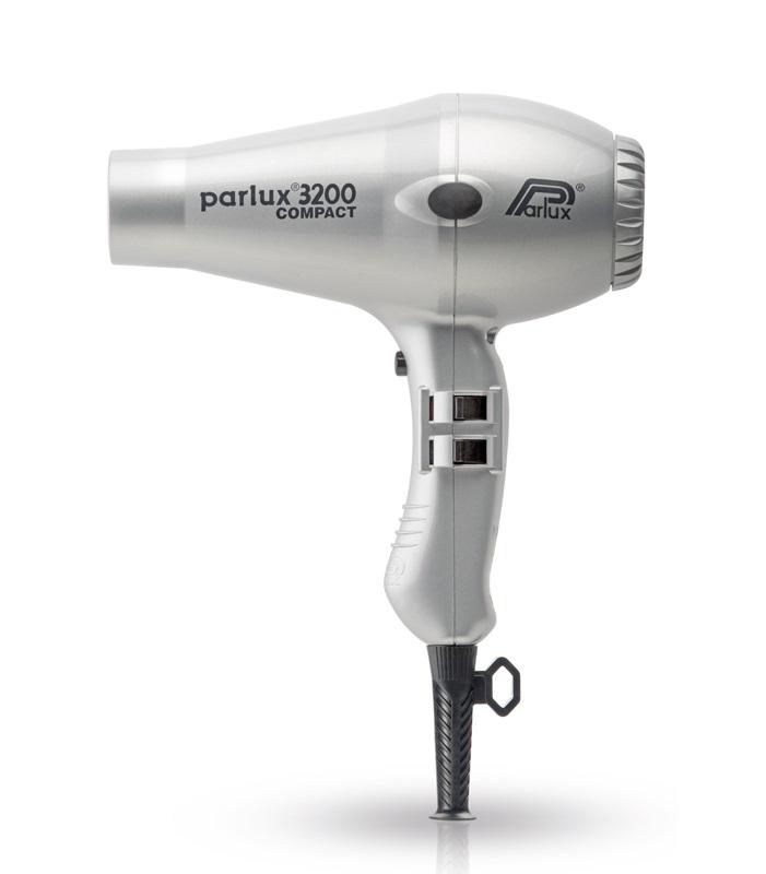 Фен Parlux 3200 COMPACT серебристый, 2 насадки 1900 Вт