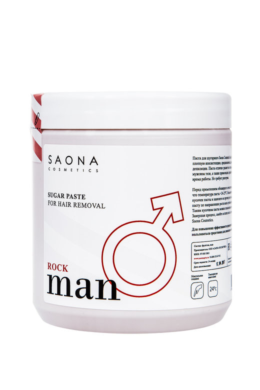 SAONA COSMETICS Паста сахарная для мужского шугаринга / Rock Man Line 1000 г