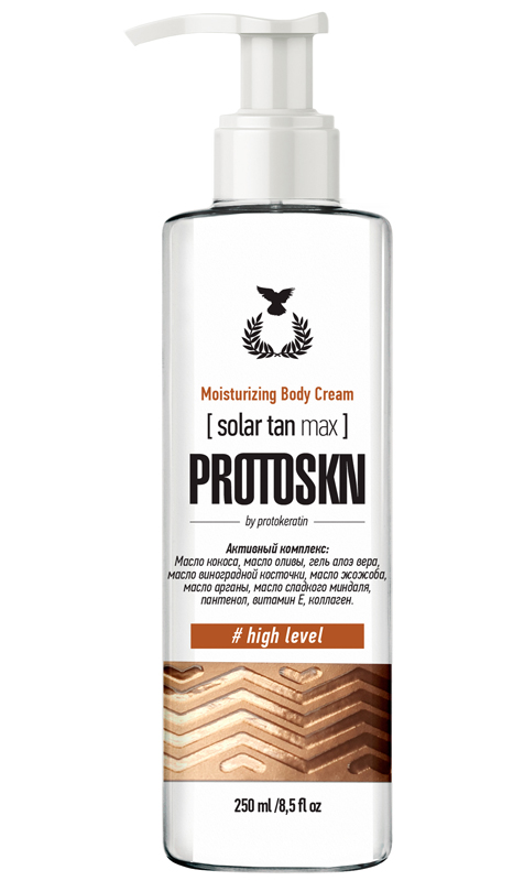 Купить PROTOKERATIN Крем увлажняющий с эффектом загара 5% для тела / Moisturizing body cream solar tan max 5% 250 мл