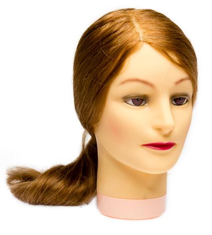 DEWAL PROFESSIONAL Голова учебная блондинка, натуральные волосы 50-60 см (M-4151XL-407)