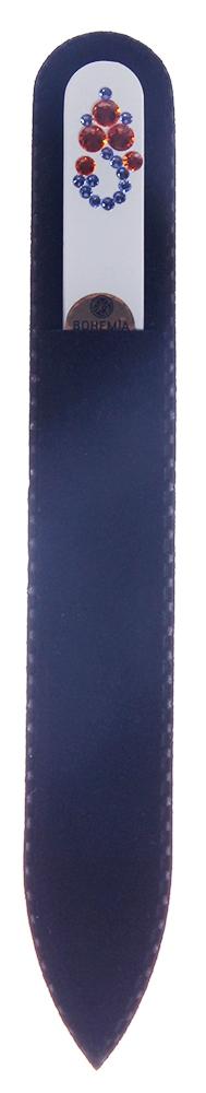 BOHEMIA PROFESSIONAL Пилочка стеклянная цветная Змейка 135ммПилки для ногтей<br>Нет ничего лучше для натуральных ногтей, чем пилка из богемского хрусталя. Данный материал имеет практически неограниченный срок использования. Пилки Bohemia Professional имеют наиболее стойкий абразив. Пилка из богемского хрусталя также может стать стильным аксессуаром или красивым подарком. Bohemia Professional представляет Вам огромный выбор прозрачных и цветных пилок с декором: ручная роспись, декорация стразами, пилки с логотипом, и полноцветные изображения. Инструмент можно стерилизовать и обрабатывать химическими дезинфекторами, антисептиками.<br>