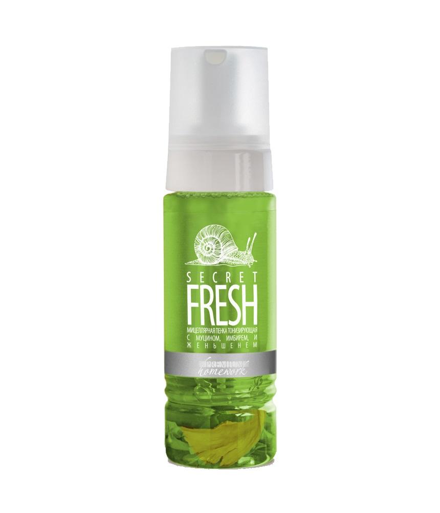 Купить PREMIUM Пенка мицеллярная тонизирующая с муцином, имбирем и женьшенем / Homework Secret Fresh 170 мл
