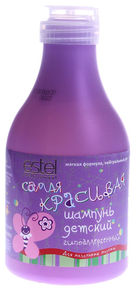 ESTEL PROFESSIONAL Шампунь детский гипоаллергенный / My Angel 250млШампуни<br>Мягкий шампунь нежно очищает волосы и чувствительную кожу головы, обладает гипоаллергенной формулой. Специальные ухаживающие компоненты восстанавливают естественный объем и мягкость волос. Содержит натуральные природные экстракты ромашки, череды, аллантоин и бисаболол, благодаря чему оказывает смягчающее, увлажняющее и противовоспалительное действие на волосы и кожу головы. Чистые, шелковистые, послушные волосы; нежный уход Активные ингредиенты: Экстракт ромашки, экстракт череды, аллантоин, бисаболол. Способ применения: Небольшое количество шампуня нанести на влажные волосы, легко помассировать и смыть водой.<br><br>Объем: 200мл<br>Тип кожи головы: Чувствительная<br>Пол: Детский