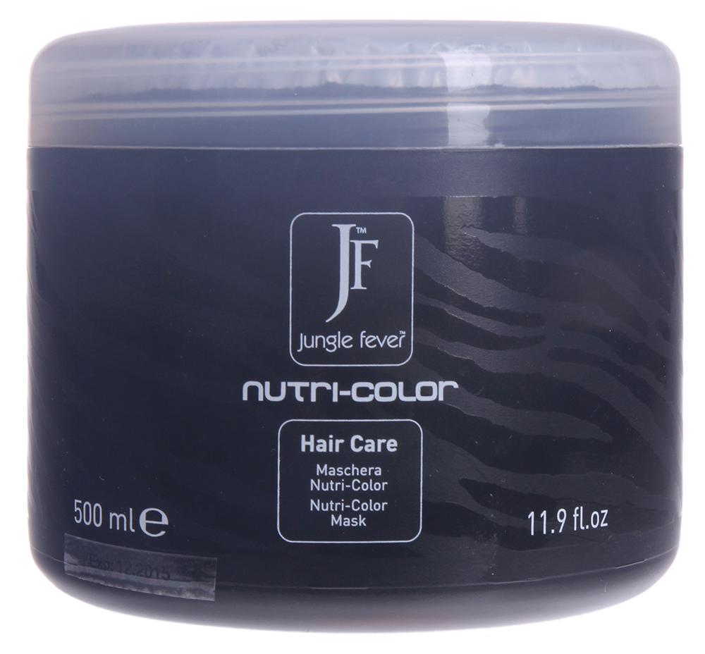 JUNGLE FEVER Маска для окрашенных волос / Nutri-Color Mask HAIR CARE 500млМаски<br>Идеальна для восстановления и глубокого питания химически поврежденных и ослабленных волос. После применения маски волосы становятся мягкими, легкими, шелковистыми, легко расчесываются благодаря протеинам шелка и маслу оливы, а их цвет остается ярким и насыщенным. Активные ингредиенты: протеины шелка и масло оливы. Способ применения: нанести маску на влажные волосы равномерно по всей длине, включая кончики, выдержать 3-5 мин., затем тщательно смыть теплой водой и приступить к укладке.<br>