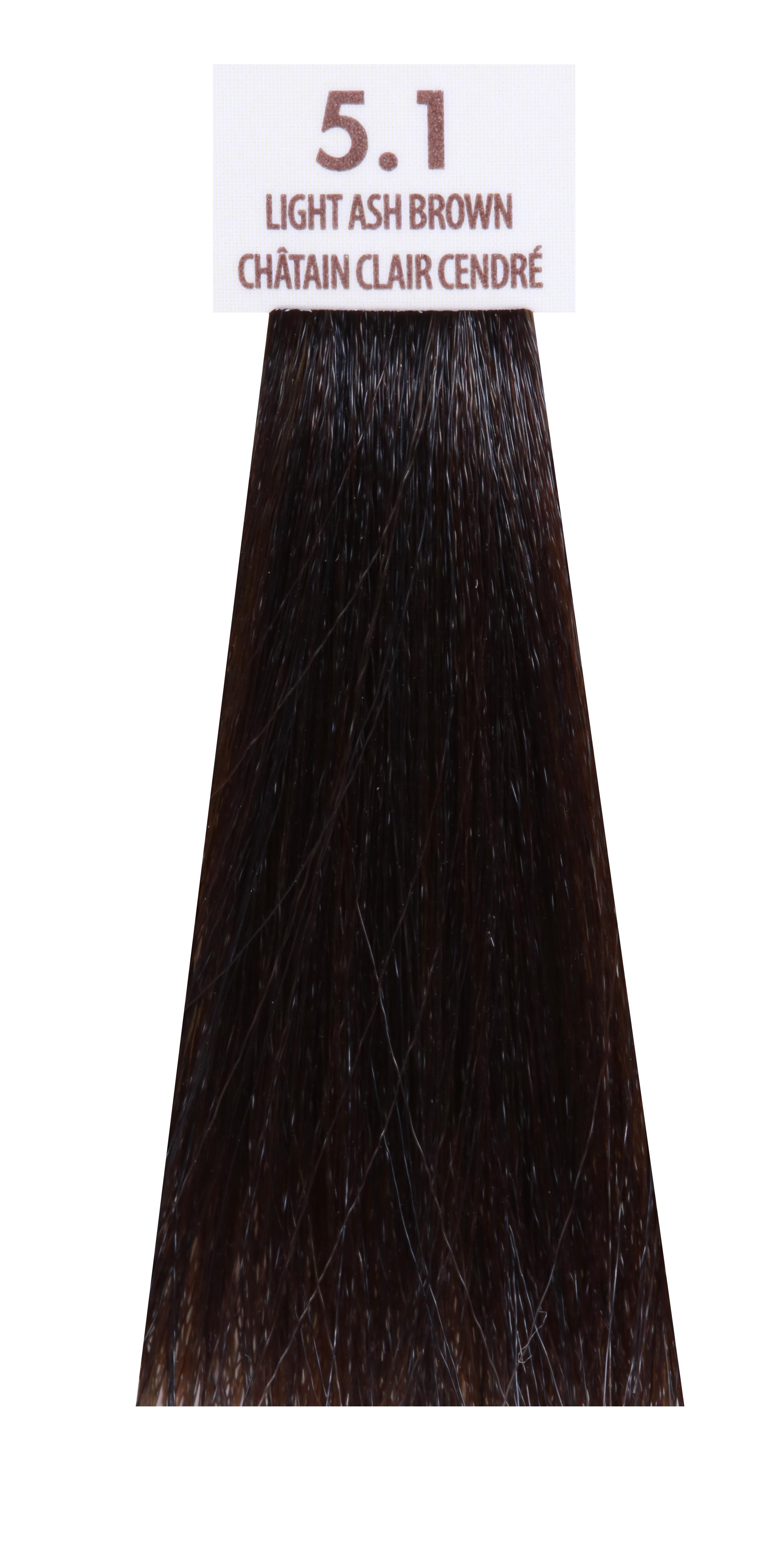 MACADAMIA NATURAL OIL 5.1 краска для волос, светлый пепельный каштановый / MACADAMIA COLORS 100 мл фото