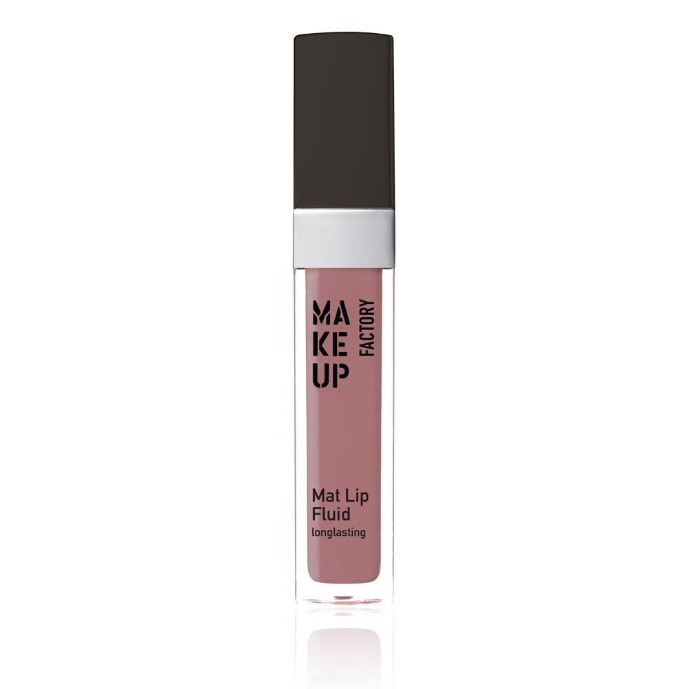 MAKE UP FACTORY Блеск-флюид матовый устойчивый, 61 бархатный палисандр / Mat Lip Fluid longlasting 6,5 мл - Блески для губ