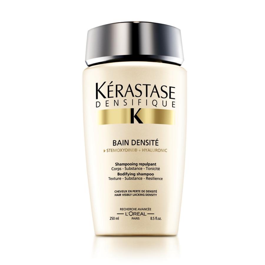 KERASTASE Шампунь уплотняющий DENSITE / DENSIFIQUE 250млШампуни<br>Восстанавливает и укрепляет структуру волос, делая их заметно более плотными и ухоженными. Stemoxydine  (Стемоксидин): активирует спящие волосяные фолликулы и повышает густоту волос. Гиалуроновая кислота: известна своими увлажняющими свойствами и является важным источником увлажнения кожи головы и волос. Gluco-Peptide (Глюко Пептиды): питание волосяного фолликула и стимулирование его активности + Керамид защищает и восстанавливает волосы. Протестирован под контролем дерматологов. Активные ингредиенты: Stemoxydine  (Стемоксидин), гиалуроновая кислота, Gluco-Peptide (Глюко Пептиды), керамид. Способ применения: нанесите на влажные волосы. Массирующими движениями распределите средство, тщательно смойте. При необходимости повторить.<br>