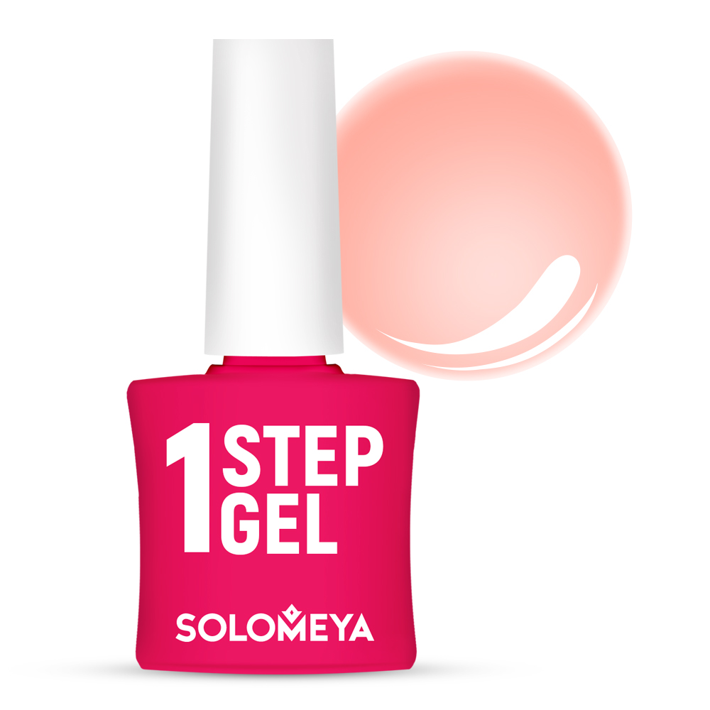 Купить SOLOMEYA Гель-лак однофазный для ногтей, 25 дыня / One Step Gel Melon 5 мл, Розовые