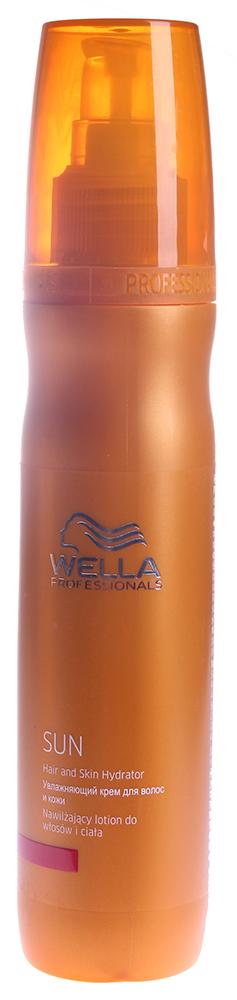 WELLA Крем увлажняющий для волос и кожи / WP SUN 150млКремы<br>Увлажняющий крем для волос и кожи Wp Sun является одним из средств солнечной линии от Wella. Универсальное средство, которое можно использовать как для волос, так и для тела. Смягчающий крем предназначен специально после пребывания на солнце. Он увлажняет и восстанавливает водный баланс кожи и волос. Результат: Питание и увлажнение после пребывания на солнце. Активные ингредиенты: Витаминный комплекс. Способ применения: После пребывания на солнце нанести на волосы 3-5 нажатиями помпы. Распределить по всей длине сухих или влажных волос и коже головы.<br><br>Вид средства для тела: Увлажняющий