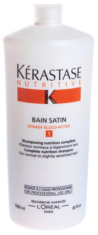 KERASTASE Шампунь для нормальных и слегка сухих волос Сатин  1 / NUTRITIVE IRISOME 1000мл