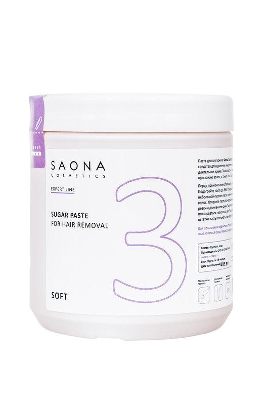 SAONA COSMETICS Паста сахарная мягкая для шугаринга № 3 / SOFT Expert Line 1000 г -  Сахарные пасты