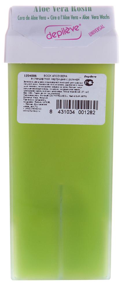 DEPILEVE Картридж стандартный с воском алоэ вера NG 100грВоски<br>Прозрачный воск зеленого цвета, имеющий кремообразную текстуру. Идеален для нормальной кожи, обладает увлажняющим действием. Быстро &amp;laquo;схватывается&amp;raquo;, обладает превосходной адгезией к волосам и минимальным травмирующим действием на кожу. Активные ингредиенты: Алоэ вера, слюда (повышает адгезию воска, смягчает и успокаивает кожу). Температура плавления 37 &amp;deg; С.<br><br>Объем: 100<br>Вид средства для тела: Увлажняющий<br>Типы кожи: Нормальная