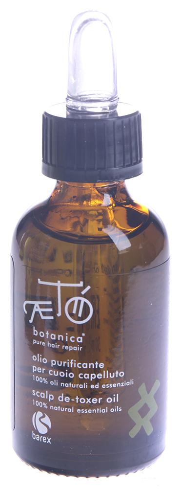 BAREX Экстракт масел экзотических растений для поврежденной кожи головы / AETO 30млМасла<br>Особое масло для успокаивающего и очищающего ухода за кожей головы. Идеально подходит для жирной или сухой кожи головы, а также при шелушении и перхоти. Новая формула: Масло сладкого миндаля: глубоко питает, смягчает и успокаивает кожу головы. Масло нигеллы: очищает кожу головы и восстанавливает ее физиологический баланс. Масло энотеры: успокаивает и расслабляет кожу головы. Эфирные масла лаванды, шалфея, розмарина: очищают и регулируют выделение кожного сала. Экстракт бамбука: питает кожу головы и волосы. Гвайазулен (производное азулена): активный компонент, получаемый из эфирного масла ромашки, устраняет раздражение, успокаивает кожу головы. Не содержит: искусственных красителей, искусственных отдушек, парабенов Результат: кожа головы смягчена, становится более эластичной и спокойной. Уменьшается зуд. Активные ингредиенты: масла сладкого миндаля, нигеллы, энотеры, эфирные масла лаванды, шалфея, розмарина, экстракт бамбука, гвайазулен (производное азулена). Способ применения: применять 1-2 раза в неделю. Несколько капель на кожу волосистой части головы. Осторожно помассировать. Оставить для воздействия минимум на 15 минут. Затем смыть, используя шампунь линии АЭТО. Для достижения лучшего эффекта курс применения должен составлять не менее 4 месяцев.<br><br>Объем: 30<br>Вид средства для волос: Очищающий<br>Назначение: Перхоть