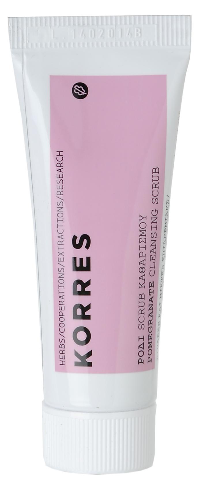 KORRES Скраб очищающий для жирной и комбинированной кожи, гранат 16 мл - Скрабы