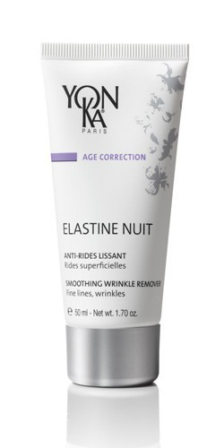 YON KA Крем Elastine Nuit / AGE CORRECTION 50млКремы<br>Этот богатый разнообразными биоактивными компонентами восхитительный крем, словно тончайшая шаль, нежно укроет Вашу кожу ночью, питая и увлажняя ее. Восстанавливает все жизненно важные функции кожи, является незаменимым средством против ее старения. Укрепляет структуру кожи, делает ее эластичной и упругой. Разглаживает мелкие и глубокие морщины. Возвращает коже идеальную увлажненность Возрастная категория: от 25 лет. Активные ингредиенты: эластин, гликопротеины, масло каритэ, масло проростков пшеницы, витамин С. Способ применения: наносить вечером на кожу лица и шеи после очищения и распыления лосьона Yon-Ka.<br><br>Назначение: Морщины
