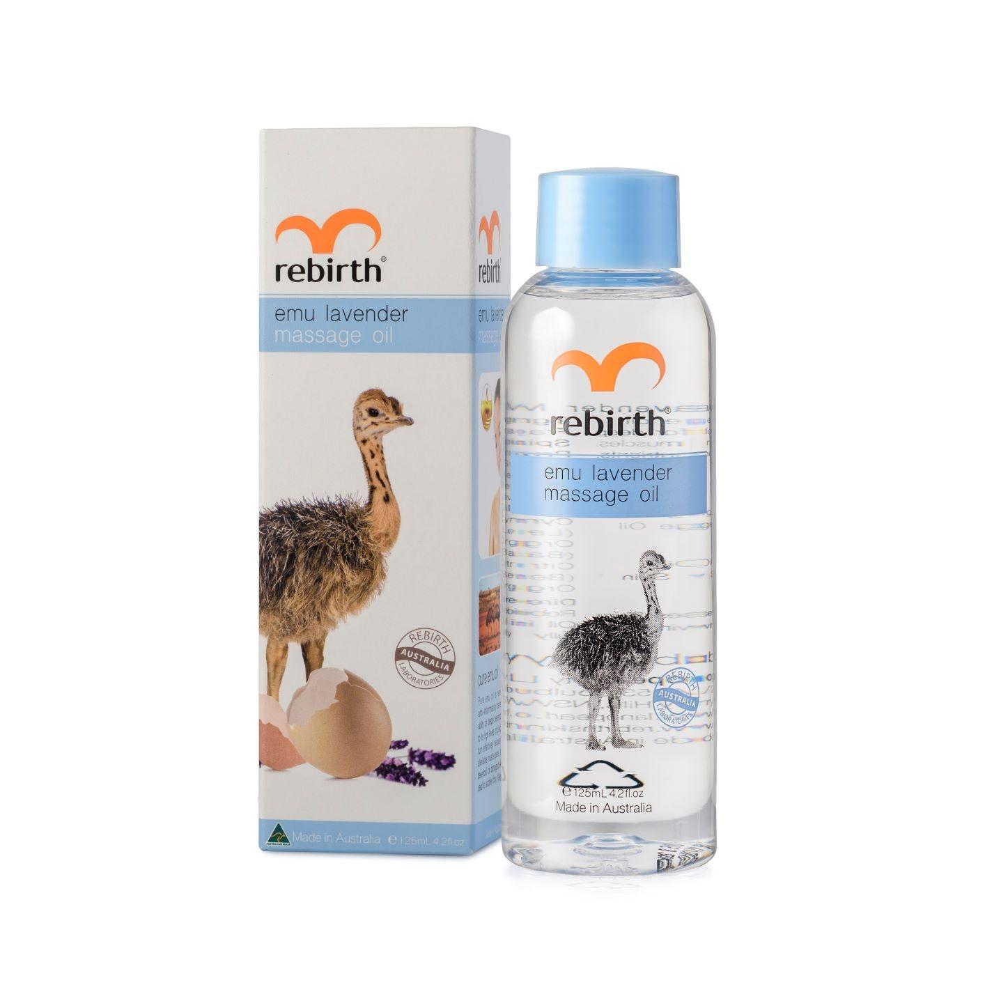 Купить REBIRTH Масло для массажа с маслом Эму и лавандой / EMU LAVENDER MASSAGE OIL 125 мл