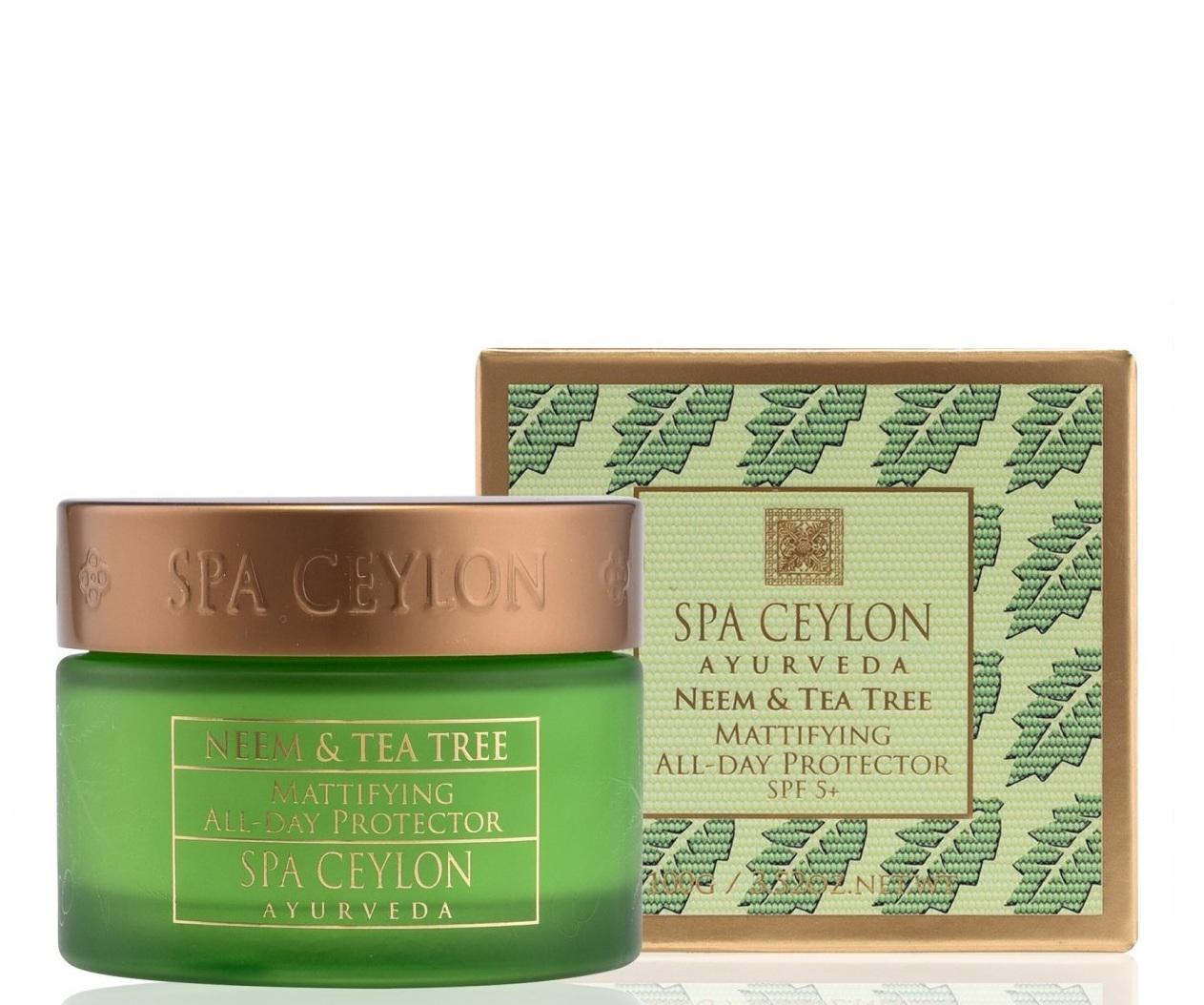 Купить SPA CEYLON Крем матирующий дневной для лица SPF 5+ Ним и чайное дерево 100 г