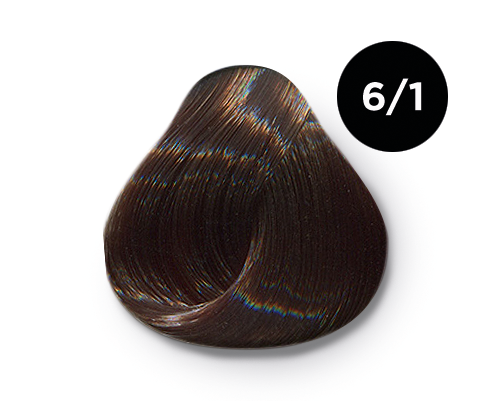 OLLIN PROFESSIONAL 6/1 краска для волос, темно-русый пепельный / OLLIN COLOR 60 мл