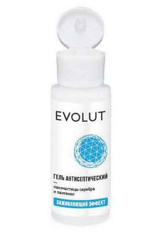 Купить EVOLUT Гель антисептический для рук с наночастицами серебра и пантенолом, флип-топ 50 мл