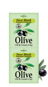 MADIS Маска для лица интенсивное очищение с зеленой глиной / HerbOlive 2*8 мл