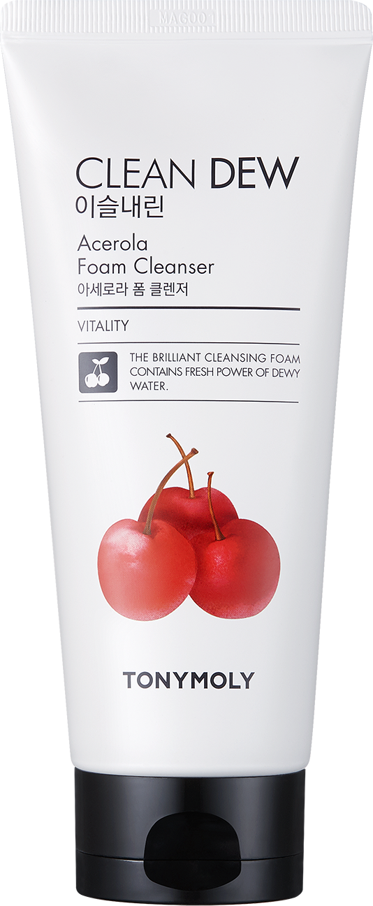 TONYMOLY Пена для умывания / Clean Dew Acerola Foam Cleanser 180 мл -  Пенки