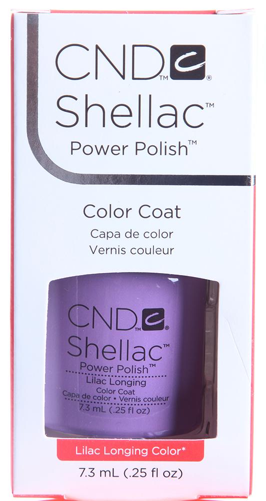 CND 056 покрытие гелевое Lilac Longing / SHELLAC 7,3млГель-лаки<br>Цвет: Lilac Longing   Shellac &amp;ndash; первый гибрид лака и геля, сочетающий в себе самые лучшие свойства профессиональных лаков для ногтей (простота наложения, яркий блеск, богатство цвета) и современных моделирующих гелей (отсутствие запаха, носибельность, нестираемость).   Носится как гель, выглядит как лак, снимается за считанные минуты, укрепляет и защищает ногти, гипоаллергенный, создан по формуле 3 FREE, не содержит дибутилфталата, толуола, формальдегида и его смол   все это Shellac!   Преимущества: 14 дней   время носки маникюра 2 минуты   время высыхания покрытия Зеркальный блеск и идеальная гладкость маникюра Не скалывается, не смазывается, не трескается Каждое покрытие представлено в непрозрачном флаконе, цвет которого абсолютно идентичен оттенку самого продукта. Флакон не скользит в руке, что делает процедуру невероятно легкой и приятной, а удобная кисточка позволяет нанести средство идеально ровно. Пошаговая инструкция.<br><br>Цвет: Фиолетовые<br>Виды лака: Глянцевые