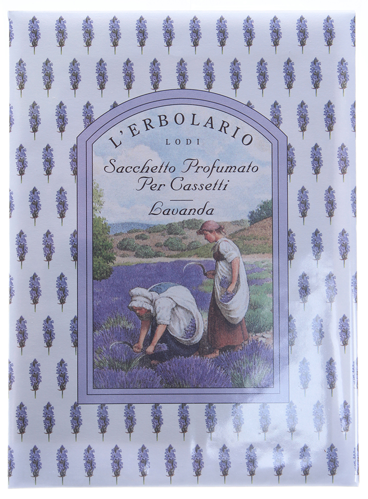 LERBOLARIO Саше для комода ЛавандаАроматы для интерьера<br>Использование ароматизированных саше имеет давнюю традицию, и сегодня, как много лет назад они привнесут в Ваш дом частицу утонченного вкуса.<br>