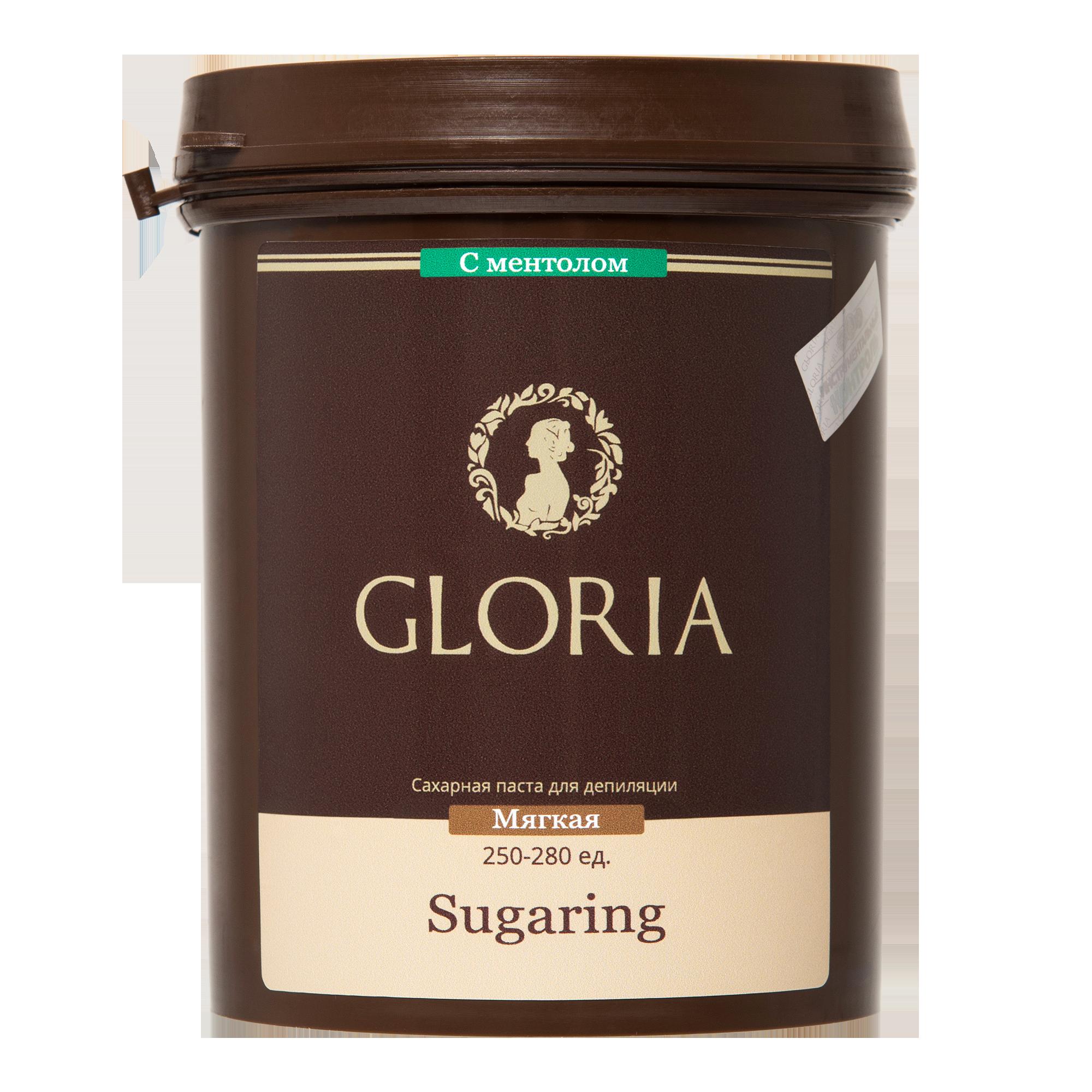 GLORIA Паста сахарная для депиляции мягкая с ментолом / GLORIA, 1,8 кг -  Сахарные пасты