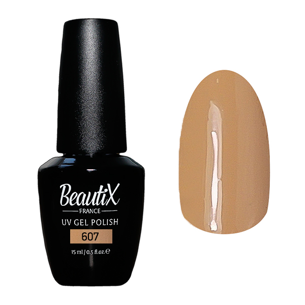 Купить BEAUTIX 607 гель-лак для ногтей 15 мл, Коричневые