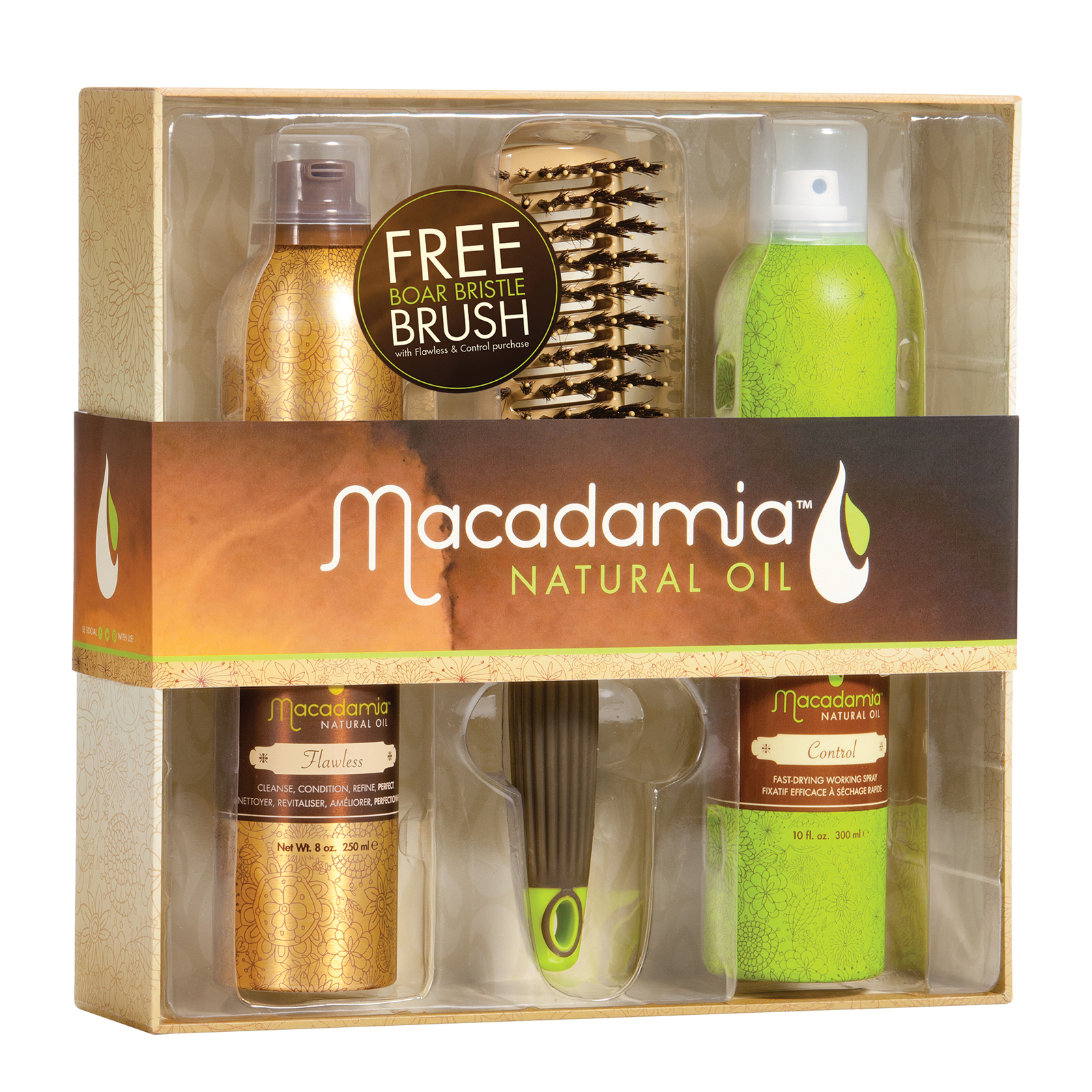 MACADAMIA Natural Oil Набор для укладки / Flawless Finish macadamia natural oil крем мусс без изъяна flawless крем мусс без изъяна flawless 250 мл