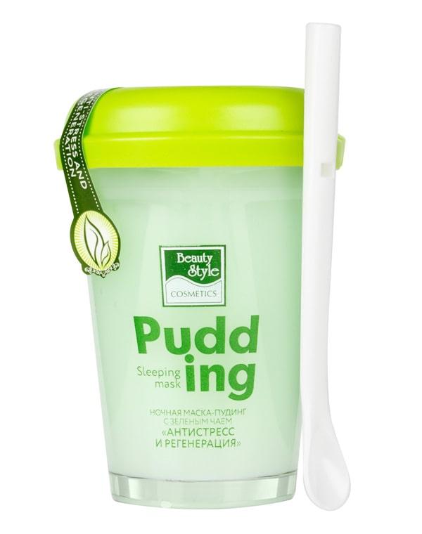 Купить BEAUTY STYLE Маска-пудинг ночная с зеленым чаем Антистресс и регенерация 100 г