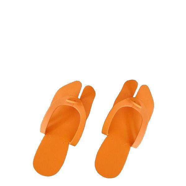 ЧИСТОВЬЕ Тапочки вьетнамки пенополиэтилен 5 мм оранжевый 25 пар/уп